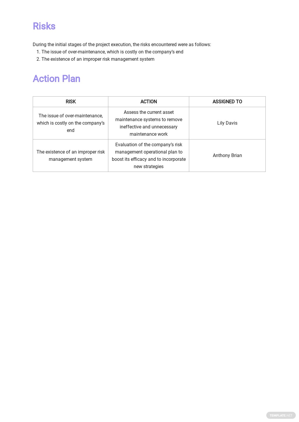 Asset Management Monthly Report Template 3.jpe