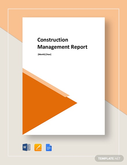 construction management monthly report 2