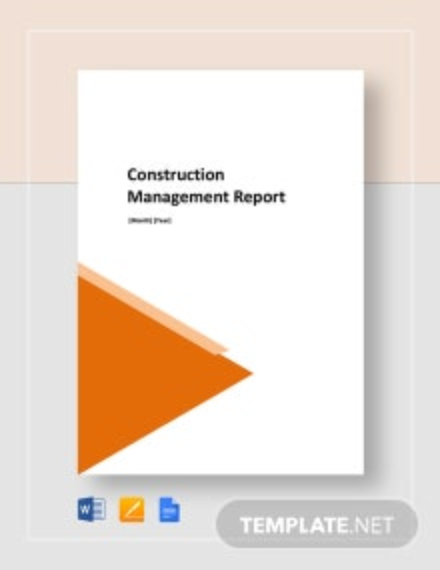 Construction Management  Report Template
