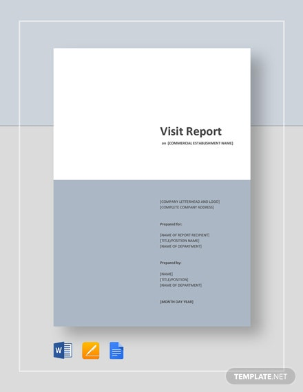18+ Visit Report Templates - Free Word, PDF, Doc, Apple