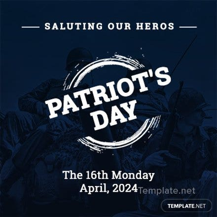 Free Patriot's Day Twitter Profile Photo Template