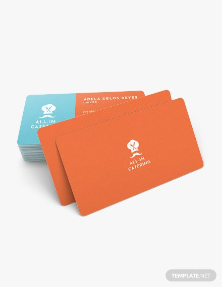 Sample Catering Business Card
