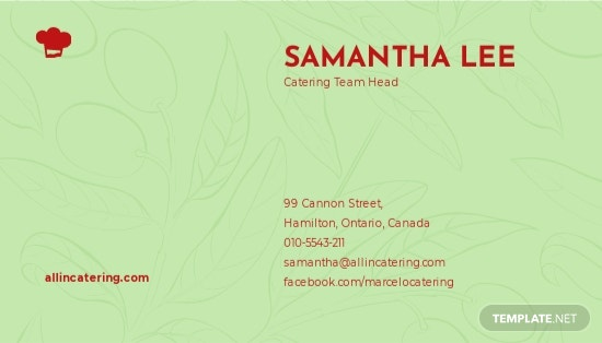 Catering Service Business Card Template 1.jpe
