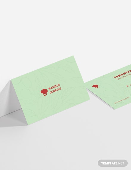 Sample Catering Service Business Card