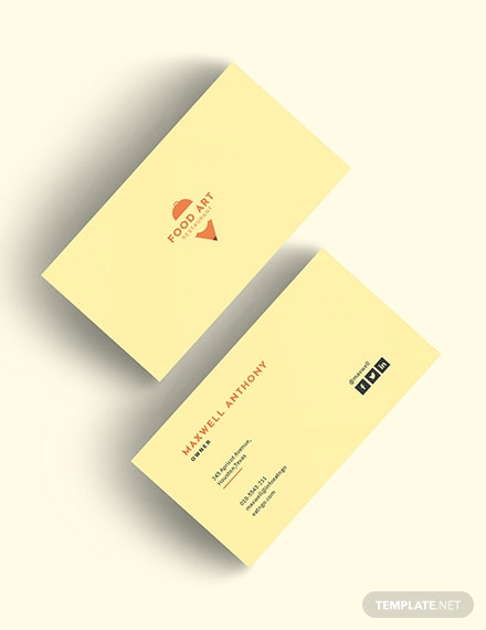 Creative Restaurant Business Card Download