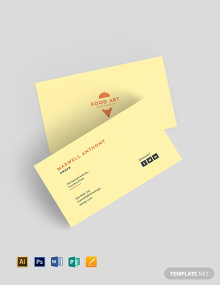 Creative Restaurant Business Card Template Download 96 Business
