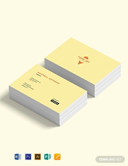 Creative Restaurant Business Card Template
