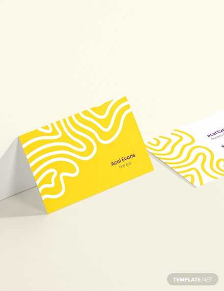 Sample Creative Student Business Card