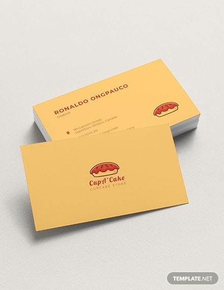 Cupcake Bakery Business Card Template