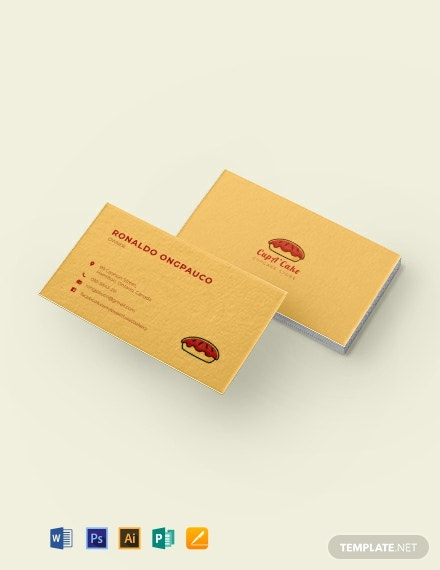 Cupcake Bakery Business Card Template