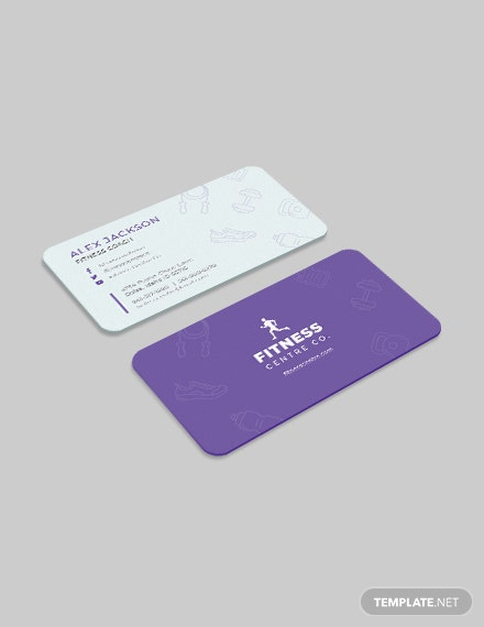 Fitness Center Business Card Download
