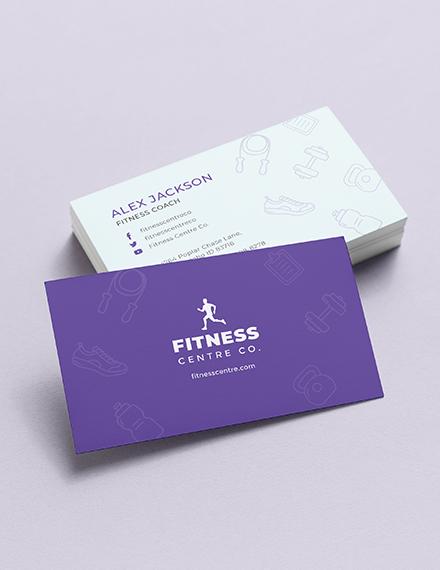 Fitness Center Business Card Template