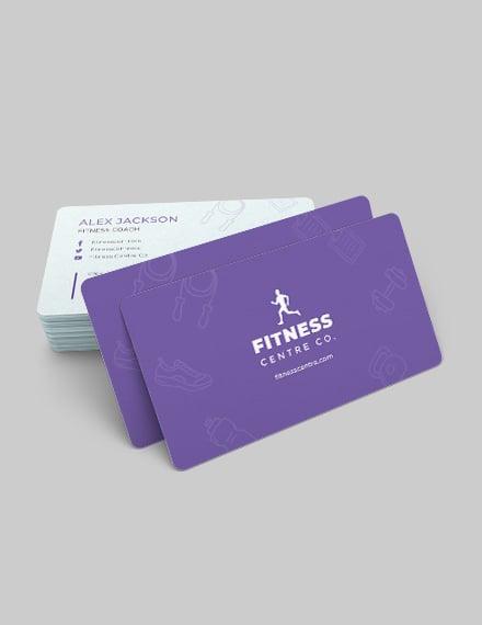 Sample Fitness Center Business Card