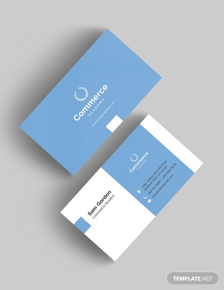 Graduate Student Business Card Download