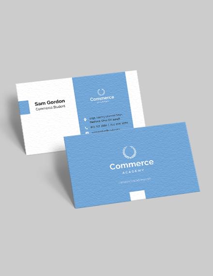 Sample Graduate Student Business Card