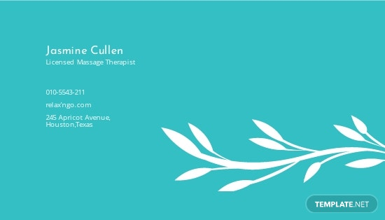Licensed Massage Therapist Business Card Template 1.jpe