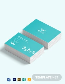 Licensed Massage Therapist Business Card Template