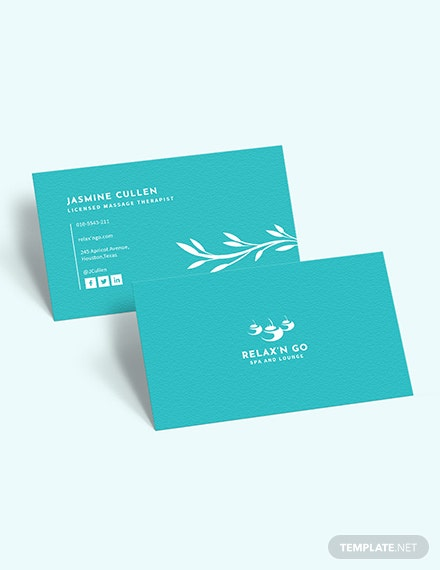 Sample Licensed Massage Therapist Business Card