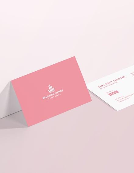 Sample Massage Therapist Business Card