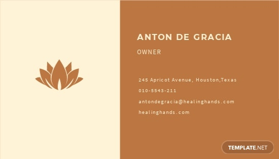 Massage Therapy Business Card Template 1.jpe