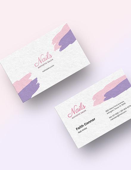 Modern Nail Salon Business Card Download