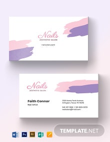 Modern Nail Salon Business Card Template