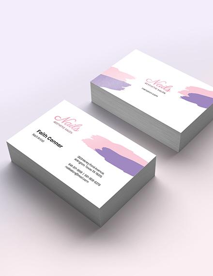 Sample Modern Nail Salon Business Card