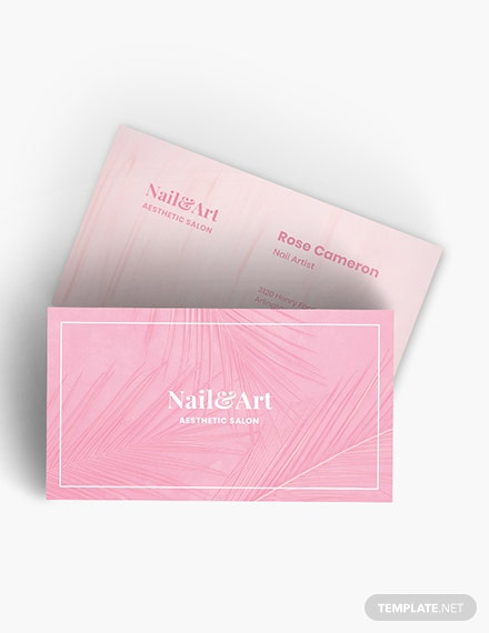 Nail Artist Business Card Download