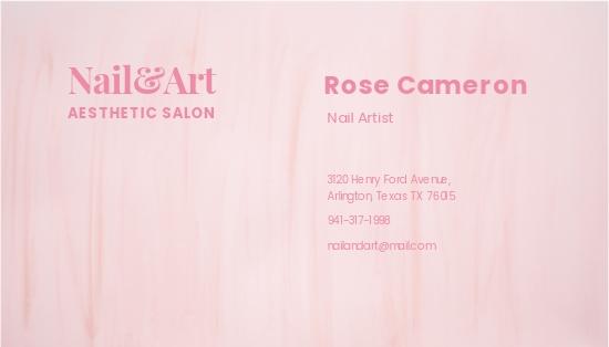 Nail Artist Business Card Template 1.jpe