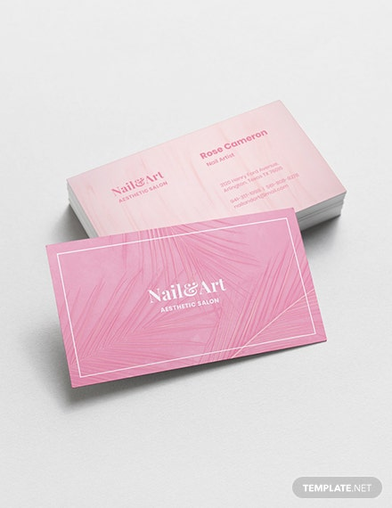 Nail Artist Business Card Template Download 155 Business Cards In