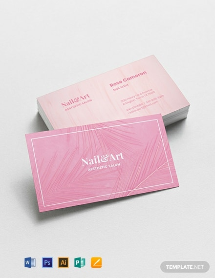 Nail Artist Business Card Template
