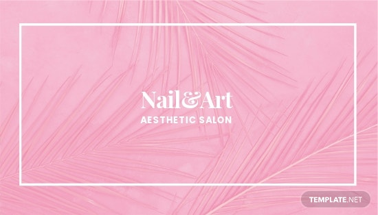 Nail Artist Business Card Template