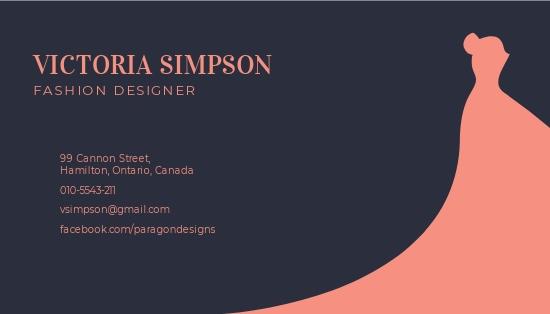 Simple Fashion Designer Business Card Template 1.jpe