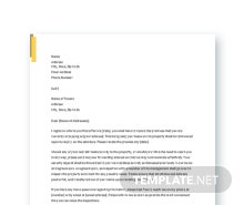 Free Lease Termination Letter Template Landlord to Tenant