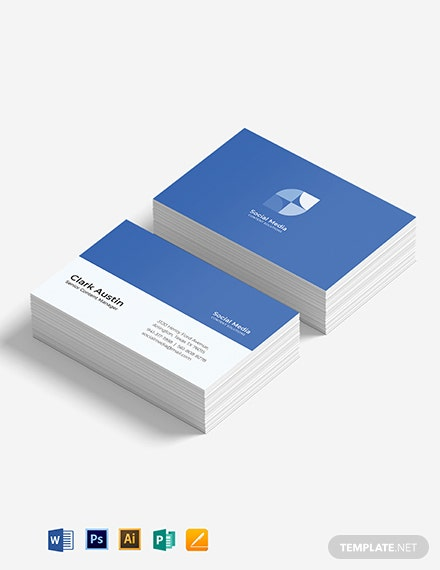 Simple Social Media Business Card Template