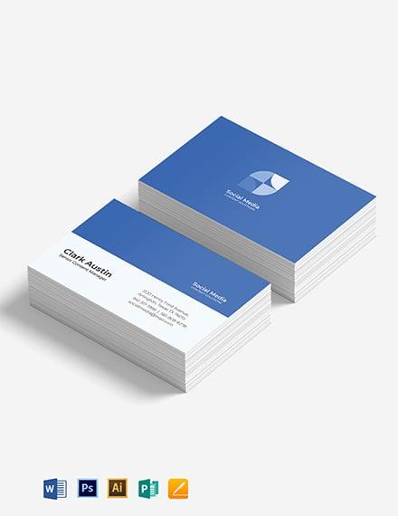 Simple Social Media Business Card Template