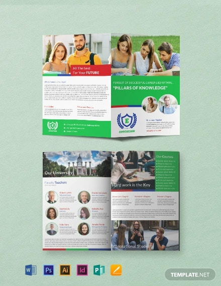 Education A3 Bi-Fold Brochure Template