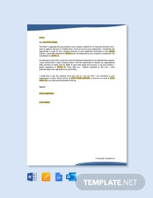 Free Job Application Letter for Administrative Position