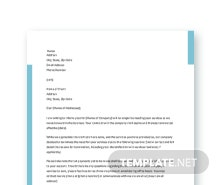 Free Service Termination Letter Template