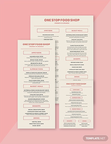 vintage food and drinks menu 02 1x