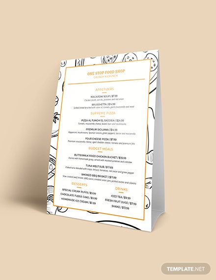 Classic Food and Drinks Menu Download