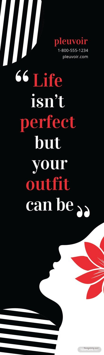 Free Fashion Bookmark Template