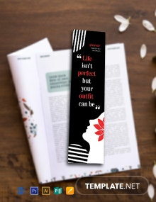 Free Fashion Bookmark Template
