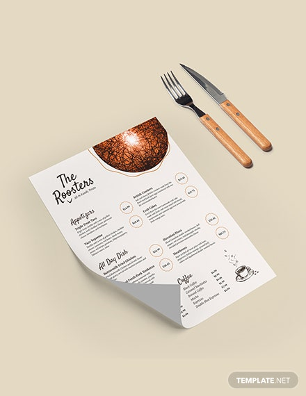 Restaurant Menu Card Download