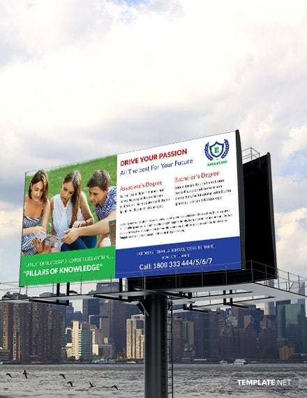 Free Education Billboard Template