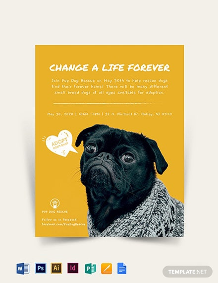 Adoption Flyer Template