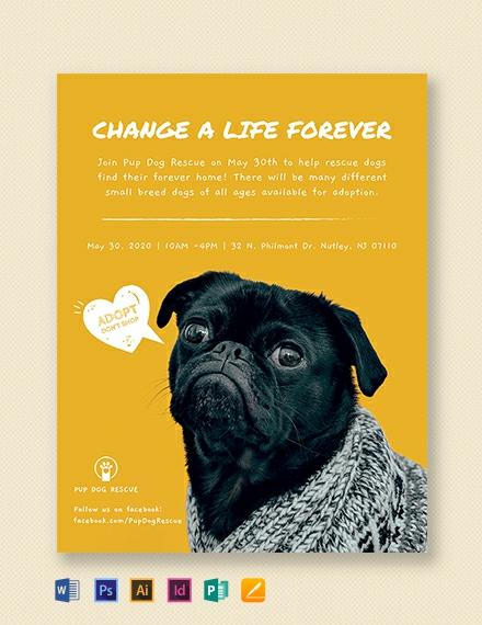 Adoption Flyer Template