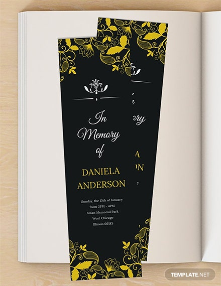 Free Memorial Bookmark Template