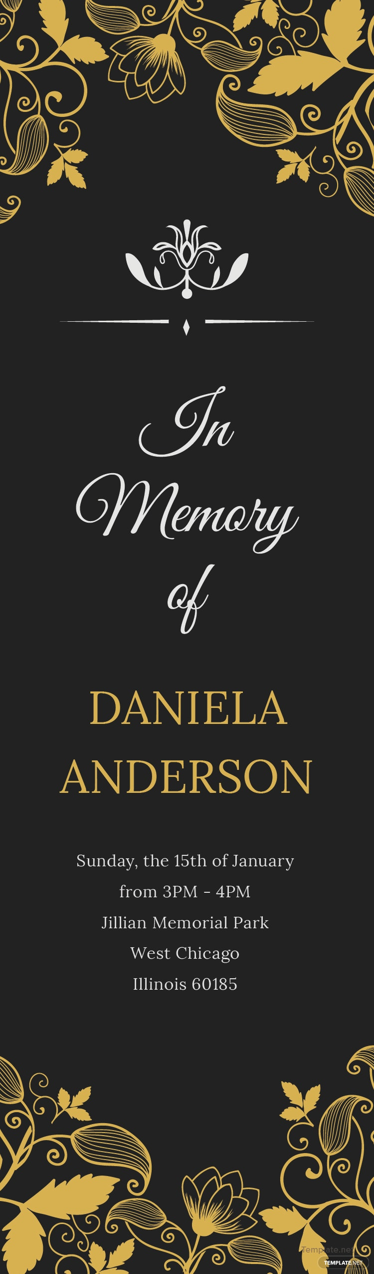 Free memorial bookmark template in adobe photoshop for Free memorial bookmark template download