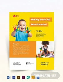 Day Care Flyer Template